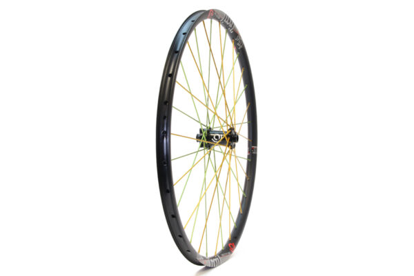 Industry Nine 650b front black hub lime/gold spokes 100mm