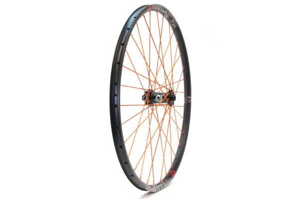 Industry Nine 650b front black hub orange spokes boost 110